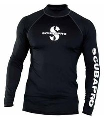 Реглан Scubapro Rash Guard Man (черный), Черный, S