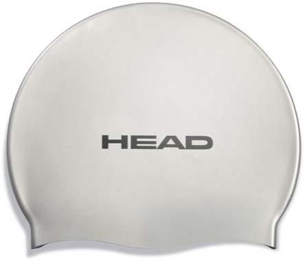 Шапочка для плавания Head Silicone Flat single color pearl, серый